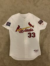 Larry Bigbie Cardinals Game Worn Used World Series Jersey