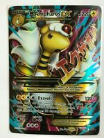 MEGA Ampharos EX FULL ART ULTRA RARE 88/98 Pokemon XY Ancient Origins Holo NM