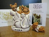 Harmony Kingdom Paws For Thought Cats UK Made Marble Resin Box Figurine SGN