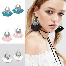 Fashion Bohemian Women's Vintage Long Tassel Fringe Boho Dangle Earrings