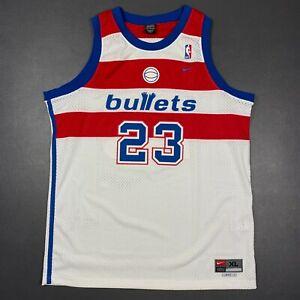 100% Authentic Michael Jordan Vintage Nike Bullets Jersey Size XL 48 Mens