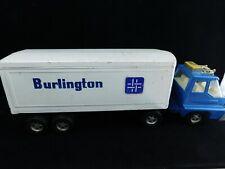 Vintage ERTL Truck Trailer Semi Big Rig Tin Toy BURLINGTON Advertising Large