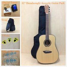 4/4 Tallowwood Dreadnought Steel-String Acoustic Guitar Natural Matt-Full Pack!