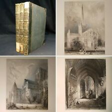 1836/42 WINKLES CATHEDRAL CHURCHES First Edition 182 ENGRAVED PLATES India Paper