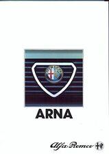 Alfa Romeo Arna 1.2 3 & 5 door Italian market sales brochure 1983