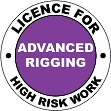 Hard Hat High Risk Licenced Advanced Rigging Sticker 50mm WHS OHS