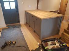solid oak handmade kitchen island