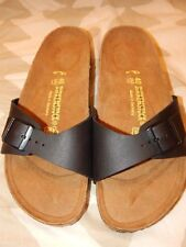 Birkenstock Madrid Black Birko Flor Sandals-40