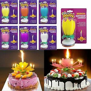Magical Flower Birthday Blossom Lotus Musical Candle Romantic Party Gift UK Kids