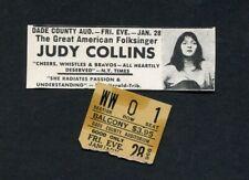 1966 Judy Collins Concert Ticket Stub Miami Dade County Auditorium Folk Music