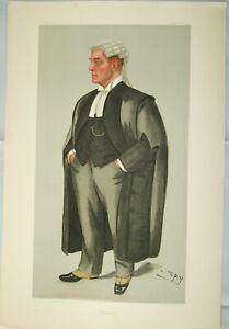 "Original VANITY FAIR Legal PRINT: ""Bargrave"" - Sir H. Bargrave F. Deane by ""SPY"""