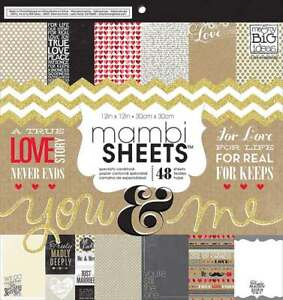Me & my BIG ideas Paper Pad You and Me 12-Inch by 12-Inch Pack of 48