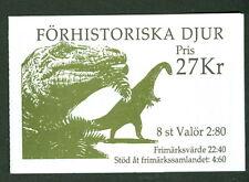 SWEDEN (H430) Scott 1972a, Prehistoric Animals booklet, VF
