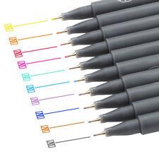 Fineliner Color Pen Set 0.38mm Fine Line Drawing Pen Porous Fine Point Markers