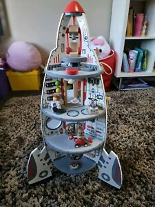 Hape 4 level rocket ship toy - wooden