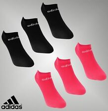 3 Pack Damas Genuino Adidas Ligero Corte bajo Calcetines No Show Trainer 5.5-8