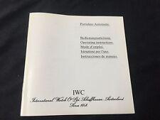 Vintage IWC Portofino Automatic instruction booklet Ref 3513