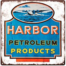 Harbor Petroleum oil gas Vintage Look Advertising Metal Sign 12 x 12  60039