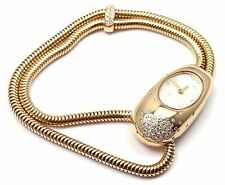 Authentic Van Cleef & Arpels 18k Yellow Gold Cadenas Serti Diamond Ladies Watch