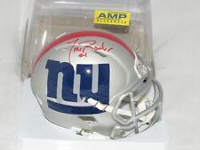 New York Giants Tiki Barber Autograph Signed AMP Mini Helmet JSA Speed