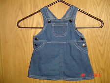 Girl's Baby Beginnings Denim Blue Jean Overall Dress 3-6 Months Fc208