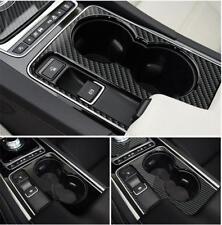 Carbon Fiber Water Cup Holder Trim pour Jaguar XF XE XJL XJ F-PACE F-TYPE A05