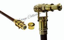 Antikes Messing Hidden Teleskop Holz Walking Stock Vintage Spazierstöck Geschenk
