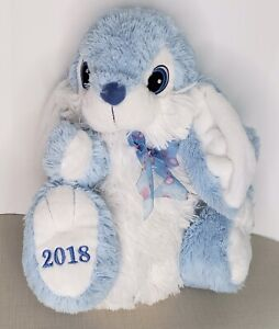 Dan Dee Easter Bunny Plush 2018 Blue White Approx 16""