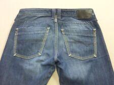 087 MENS EX-COND DIESEL TIMMEN STR8 LEG DK BLUE JEANS SZE 29 / SHORT $210 RRP.
