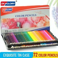 72 Color Pencil Set Oil Based Drawing Pencil Set Tin Case Art Drawing Sketching