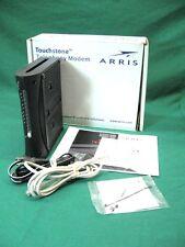 ARRIS TM402P cable PC MAC modem USB ethernet VOIP tele phone phony, CD