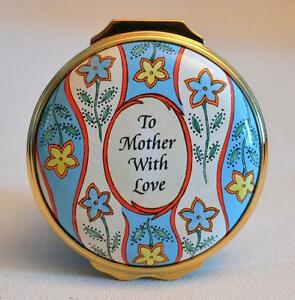 Halcyon Days Enamels Mother's Day 2001 To Mother With Love Trinket Box