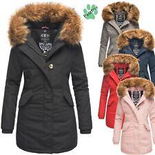 Marikoo Damen Winter Parka Jacke Kurz Mantel Damenjacke Kunstpelz Karmaa PRZ NEU