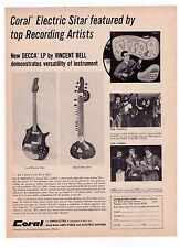 "1967 Coral ""Electric Sitar"" The Turtles Vintage Print Advertisement"