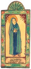 ST ELIZABETH PREGNANCY MOTHER OF JOHN THE BAPTIST HANDCRAFT WOOD POCKET RETABLO