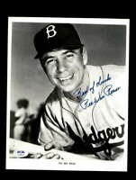 Pee Wee Reese PSA DNA Cert Hand Signed 8x10 Dodgers Photo Autograph