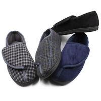 Men's Diabetic Slippers Arthritis Edema Swollen Feet Non Slip Rubber Sole Shoes
