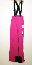 Goldwin Junior Speed Ski Snowboard Pants with Suspenders Pink sz 140