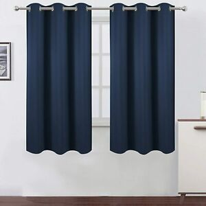 """2PC Blackout Grommet Panel Window Curtains Thermal Insulated Drapes 42""""x 63"""" NEW"""