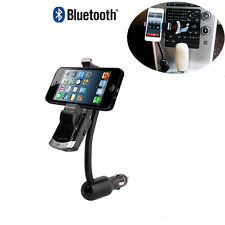 Bluetooth Car Kit Phone Mount Holder Bracket Handsfree Calling USB Charging Port