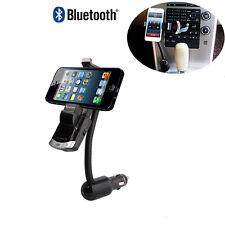 Bluetooth Car Kit Phone Mount Holder Bracket Handsfree Calling USB Charging Port