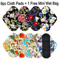 6PCS Pany Liner sanitary Pads Reusable Charcoal Bamboo Cloth Mama Menstrual Pad