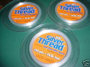 3-Silver Thread Copolymer Filler Spools 14LB / 150YD EA