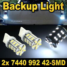 Pair 7440 42-SMD LED Back Up Reverse LED Light Bulb T20 7441 7444 992 992A White