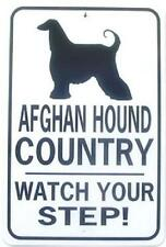 Afghan Hound Country Watch Your Step! 12X18 Alum Dog Sign Won't rust or fade