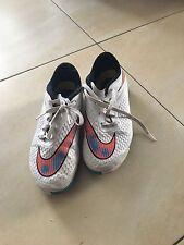 Nike Hypervenom Fussball Sneakers Hallen Gr 37,5  Weiß Neon Orange Türkis