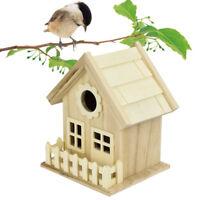 New Wooden House Bird House Wild Bird Nest Box Wooden Nesting Box Nest House bn
