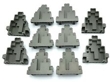 LEGO LOT OF 10 DARK GREY ROCK CASTLE WALLS PANELS 3 X 8 X 7 DOTS STONE PIECES
