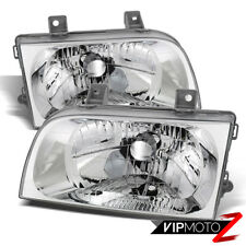 Fits 1998-2002 Kia Sportage Clear Factory Style LEFT RIGHT Headlights Assembly