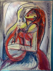 HRASARKOS Tableau Peinture Mixte sur panneau 60 cm x 80 cm Ref 302762429221